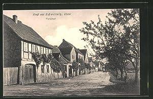 Ansichtskarte Schweinitz / Elster, Strassenpartie Forsthof