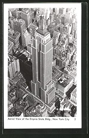 Ansichtskarte New York, NY, Aerial View of the Empire State Building, Art Deco