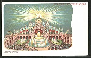 Lithographie Paris, Exposition universelle de 1900, Illuminations