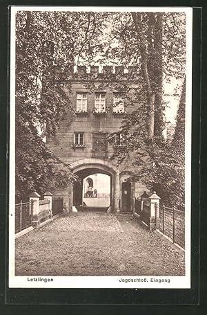 Ansichtskarte Letzlingen, Eingang zum Jagdschloss