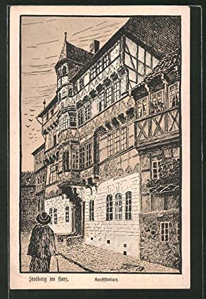 Künstler-Ansichtskarte Stolberg i. Harz, Ansicht vom Konsistorium