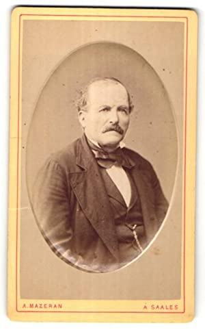 Photo A. Mazeran, Saales, Portrait de bürgerlicher