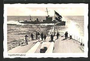 Ansichtskarte Aus unsere Reichsmarine, Torpedobootsdurchbruch
