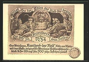 Ansichtskarte Köln, Gaststätte Weinhaus Kunibert der Fiese,