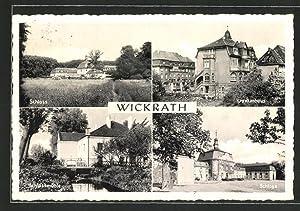 Ansichtskarte Wickrath, Schloss, Krankenhaus und Schlossmühle
