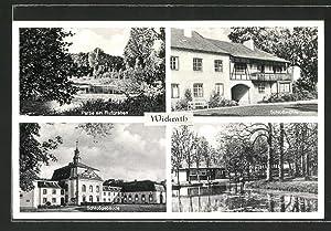 Ansichtskarte Wickrath, Schlossmühle, Schloss und Halbinsel