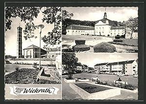 Ansichtskarte Wickrath, Kirche, Schloss, Markt