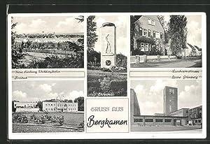 Ansichtskarte Bergkamen, Zeche Grimberg, Neue Siedlung Weddinghofen,