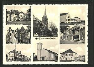 Ansichtskarte Schiefbahn, Missionsschule St. Bernhard, Kath. Kirche,