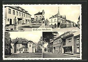 Ansichtskarte Schiefbahn, Kloster, Sparkasse, Hubertusstrasse