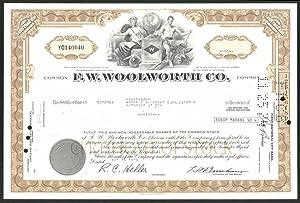 Aktie von F.W. Woolworth Co., 1974, 50
