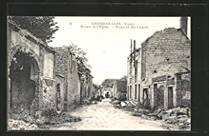 Carte postale Grand-Sillery, Ruins of the Church