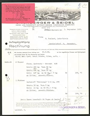 Rechnung Zittau i. Sa. 1936, Gerb -