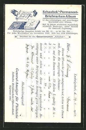 Ansichtskarte Schaubek's Permanent-Briefmarken-Album