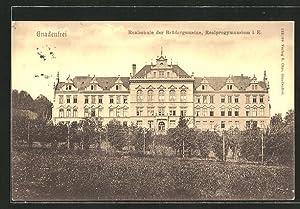 Ansichtskarte Gnadenfrei, Realschule der Brüdergemeine, Realprogymnasium