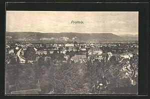 Ansichtskarte Pratteln, Ortspanorama aus der Vogelschau