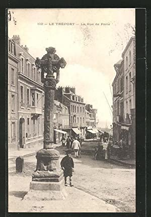 Carte postale Le Treport, La Rue de Paris