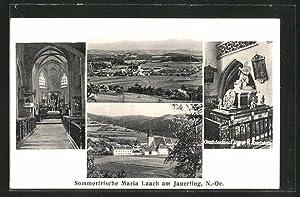 Ansichtskarte Maria Laach am Jauerling, Panorama, Grabdenkmal