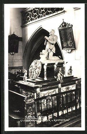 Ansichtskarte Maria Laach, Grabdenkmal Ritter von Kufstein