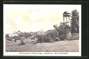 Ansichtskarte Menzingen, Dorfansicht, Erholungsheim Schwandegg - Säntisblick