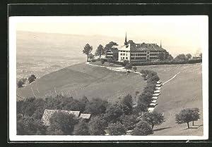 Ansichtskarte Menzingen, Blick zum Kloster Gubel