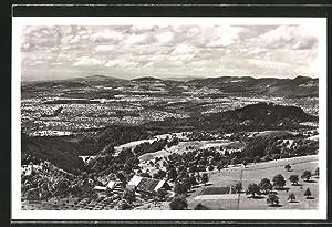 Ansichtskarte Menzingen, Ortsansicht vom Restaurant, Pension Gubel