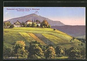 Ansichtskarte Menzingen, Restaurant, Pension Gubel