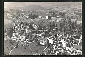 Ansichtskarte Menzingen, Seminar, Pensionat, Fliegeraufnahme