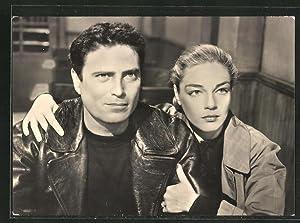 Ansichtskarte Simone Signoret und Raf Vallone im