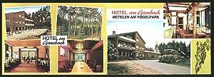 """Klapp-Ansichtskarte Metelen i. Westf., Hotel-Restaurant """"Am Gauxbach"""","""