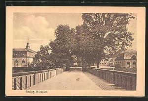 Ansichtskarte Wickrath, Strassenpartie am Schloss