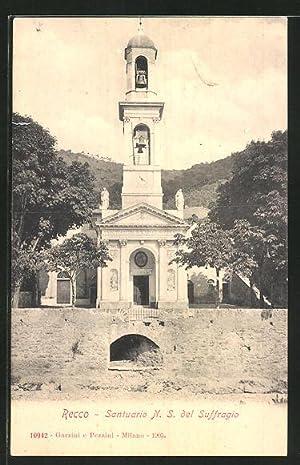 Cartolina Recco, Santuario N. S. del Suffragio