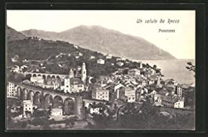 Cartolina Recco, Ortspanorama mit Viadukt