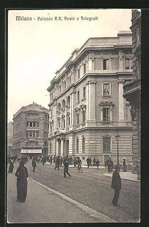 Cartolina Milano, Palazzo R. R. Poste e