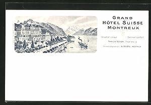 Ansichtskarte Montreux, Grand Hotel Suisse