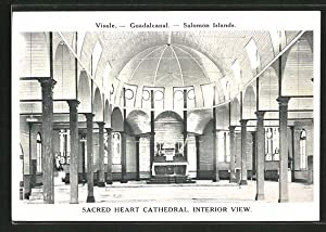 Ansichtskarte Guadalcanal, Sacred Heart Cathedral, Interior View