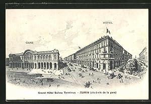 Cartolina Torino / Turin, Grand Hotel Suisse