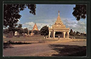 Ansichtskarte Pagan, Scenery of Shwezigon