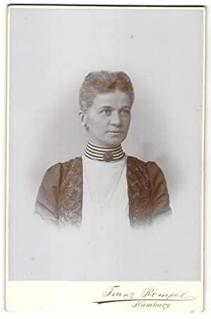 Fotografie Franz Rompel, Hamburg, Portrait Dame mit