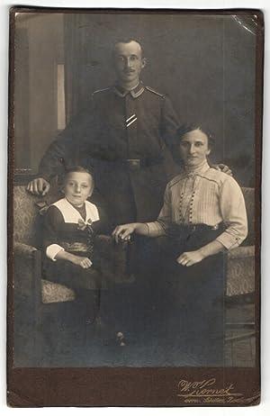 Fotografie W. Kornet, Bautzen, Portrait Sergeant mit