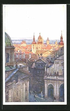 Künstler-Ansichtskarte Jaroslav Setelik: Prag / Praha, Skupina