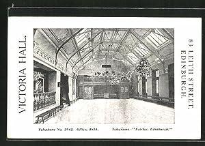 Postcard Edinburgh, Victoria Hall, 83 Leith Street