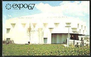 Ansichtskarte Montreal, Expo 67, Pavillon Israel