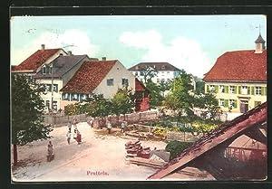 Ansichtskarte Pratteln, Strassenpartie in einer Siedlung