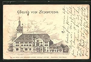 Lithographie Semmering, Gasthof