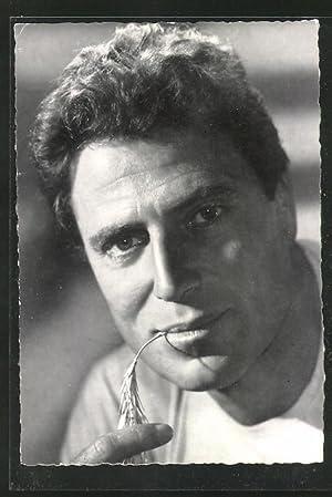 Ansichtskarte Raf Vallone, Portrait des Schauspielers