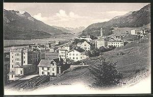 Ansichtskarte Samaden, Ortsansicht mit Kirche