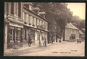 Carte postale Luneray, Route de la Gare