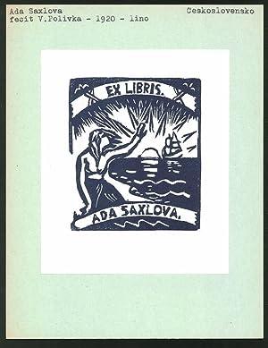 Exlibris von V. Polivka für Ada Saxlova,
