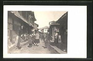 Foto-Ansichtskarte Prilep, Blick in die Hauptstrasse